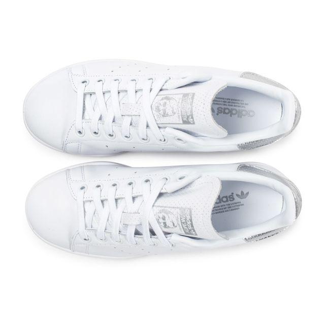 adidas stan smith femme blanche et argent