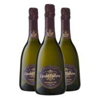 Champagne Canard-duchene - Charles Vii Blanc de Noirs avec coffret Lot de 3 Bouteilles
