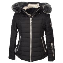 Veste style doudoune légère FEMME 9637 noir