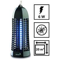 Plein Air - Lampe piege anti moustique Zap6 Noir - Décharge électrique 1000V - Champ action 20 m2