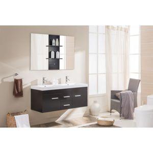 Concept Usine - Ensemble Baghéra: Meuble, 2 Vasques, 2 Miroirs Wengé