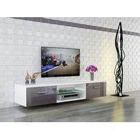 Chloe design meuble tv design suspendu vito 180cm noir for Meuble tv suspendu 120 cm
