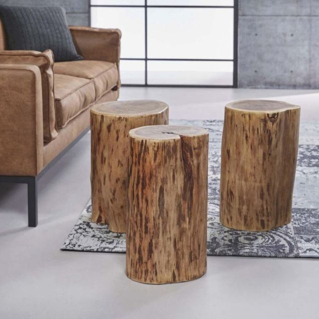 Inside 75 Table basse tronc Trunk bois massif