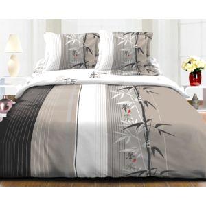 le linge de jules housse de couette 220x240 2 taies 100 microfibre ressort taupe beige. Black Bedroom Furniture Sets. Home Design Ideas