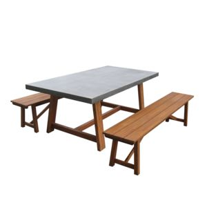 Greenpath Salon De Jardin 6 Places Table En Acacia Et