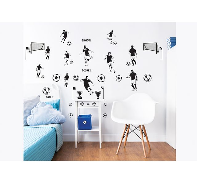 Walltastic 40 Stickers Enfants Football Pas Cher Achat Vente