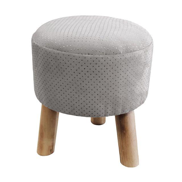 marque generique tabouret marquise gris argent nc pas cher achat vente tabourets. Black Bedroom Furniture Sets. Home Design Ideas