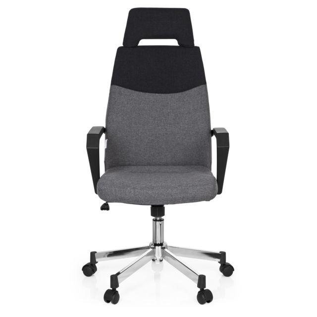 Hjh Office Chaise de bureau Royal Pro tissu gris foncé/gris