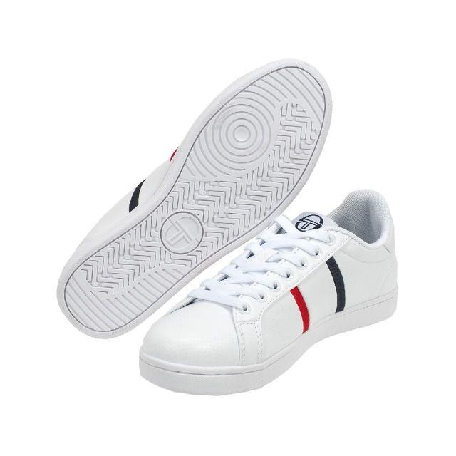 Sergio Tacchini Chaussures mode ville Nizza flag blanc nv