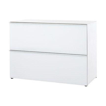 Commode 1 porte 1 tiroir 100x72x45cm blanc - Lavin