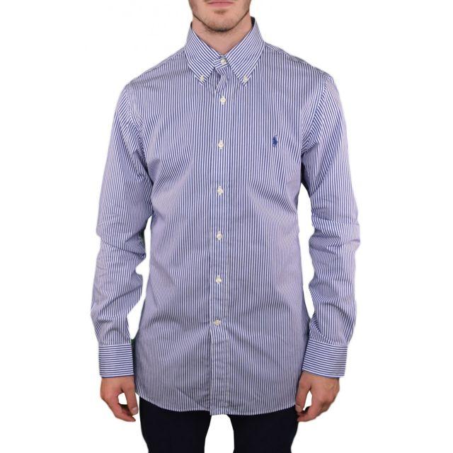 Ralph Lauren - Chemise rayée bleu et blanche pour homme - pas cher ... 30a9276ea3d0