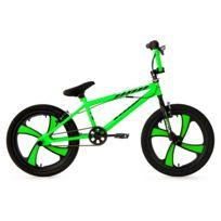 KS CYCLING - BMX Freestyle 20'' Cobalt vert fluo