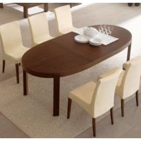 Connubiacalligaris - Calligaris Table repas extensible ovale Atelier 170x100 wengé