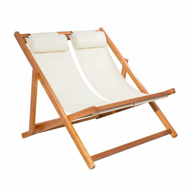 mobilier raineau chilienne double pliante en bois pas. Black Bedroom Furniture Sets. Home Design Ideas