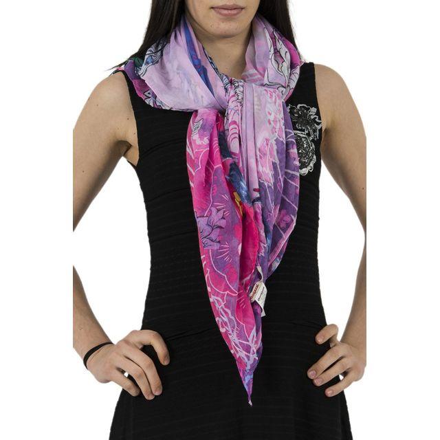 Desigual - Foulards 71w9we6 rectangle boho mix rose Taille Unique - pas  cher Achat   Vente Echarpes, foulards - RueDuCommerce 999acf95613
