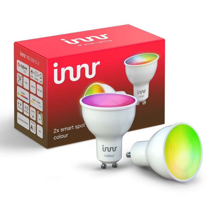 Ampoule connectée GU10 - ZigBee 3.0 - RGB - Pack de 2 ampoules