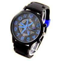 V6 Montre Homme - Montre Homme Bracelet Silicone Noir V6 2786