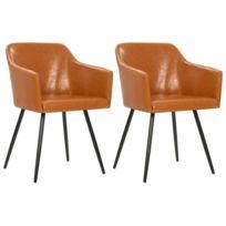 Helloshop26 Lot de deux chaises pivotante de salle à