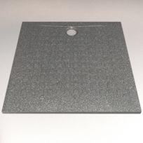 CREAZUR - Receveur de douche noir RÉSISOL - 100 100 cm