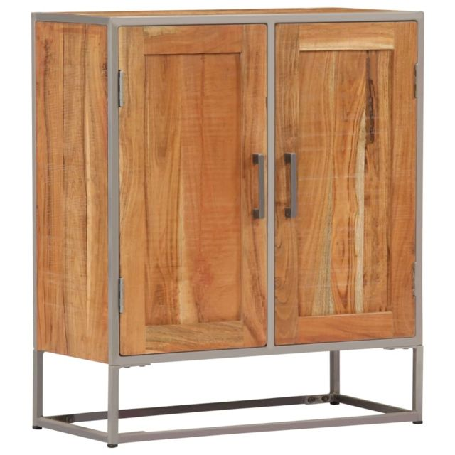 Vidaxl Bois d'Acacia Massif Buffet Commode Armoire Coffre de Rangement Salon