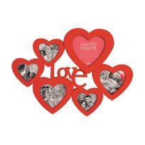 Innova - Love Cadre Multi Vues avec 6 Photos Résine Rouge