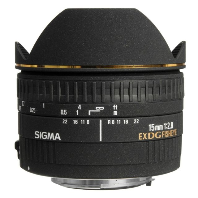 Sigma Objectif 15 mm f/2.8 FishEye Dg Ex Nikon Garanti 3 ans