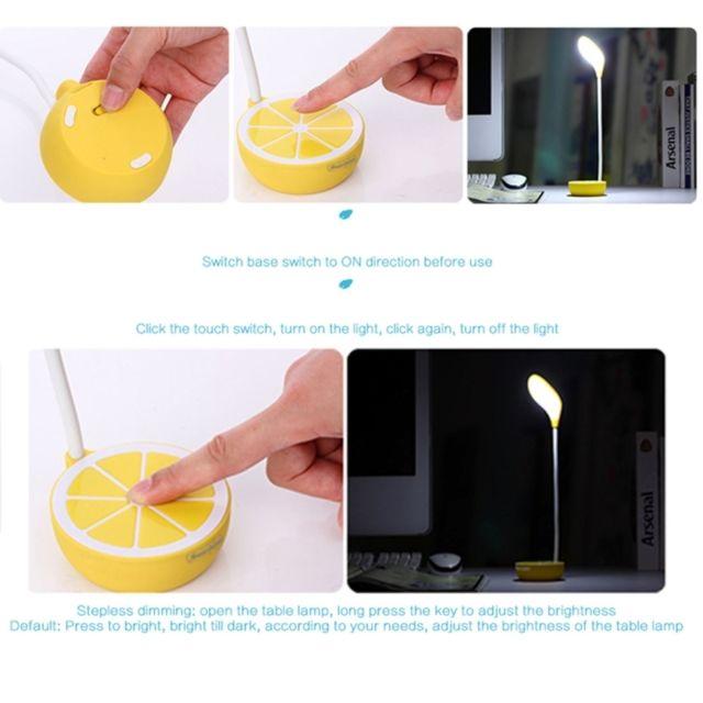 Bureau Citron Pliée Oeil Nouveauté Rechargeable Nuit Tactile Protection Lampes Lampe Jaune Portable Gradation De Table Led vwN8nmO0