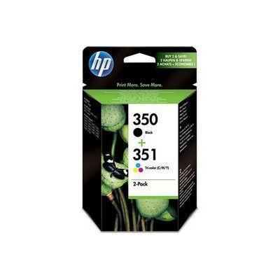 HP - Multipack cartouches d'encre n°350 Noir + n°351 Couleur Jaune, Cyan, Magenta
