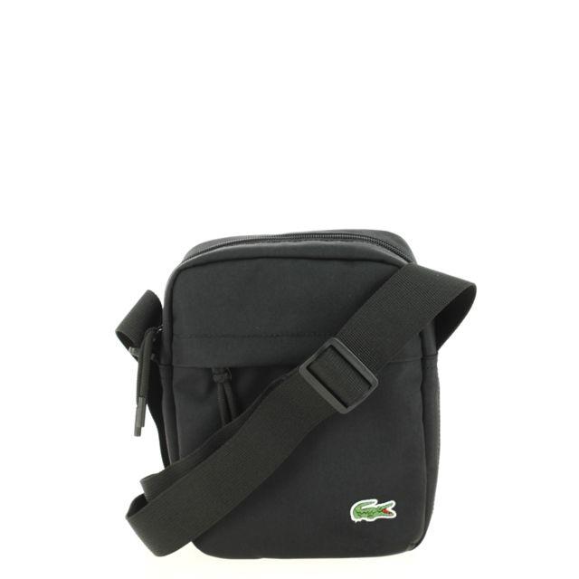 fff61b39fa80 Lacoste - Sacoche Vertical Camera Bag Vetiver - pas cher Achat   Vente  Besaces et bandoulières - RueDuCommerce