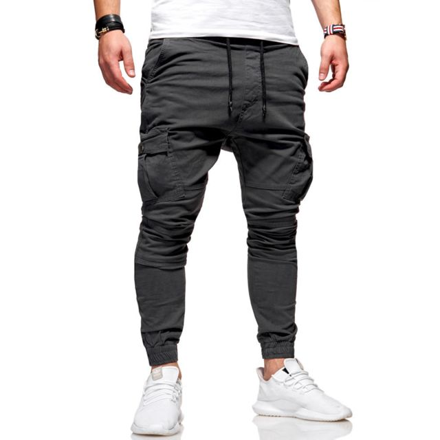 les clients d'abord grande vente vente chaude Jogger chino homme Pantalon 3292 gris