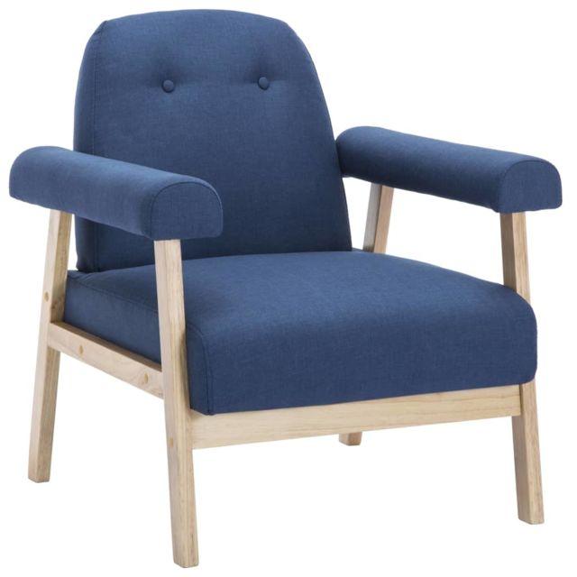 Icaverne Fauteuils club, fauteuils inclinables et chauffeuses lits famille Fauteuil Tissu Bleu