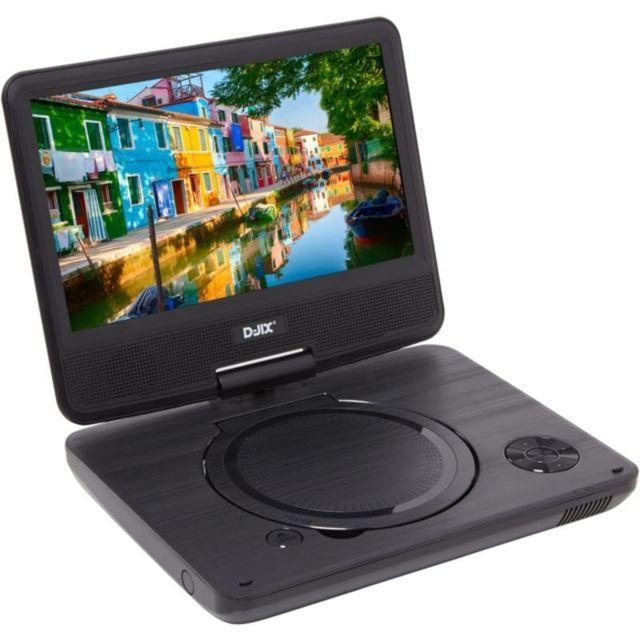 djix lecteur dvd portable pvs906 20 noir pas cher. Black Bedroom Furniture Sets. Home Design Ideas
