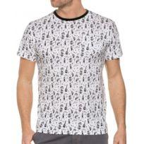 Bellfield - Tee Shirt Blanc Sérigraphié Col Rond