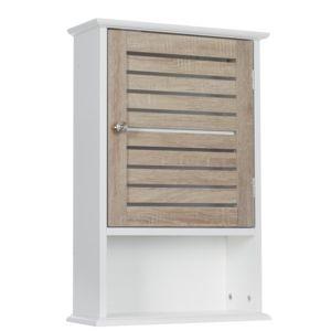 meuble haut blanc bois Résultat Supérieur 15 Superbe Meuble Haut De Salle De Bain Photos 2018 Kae2