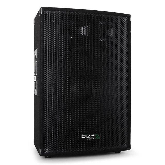 Ibiza Sound Enceinte sono passive Pa 600W max 3 voies bassreflex 12