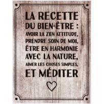 Promobo - Planche Stickers Citation Recette Bien Etre Fond Loft