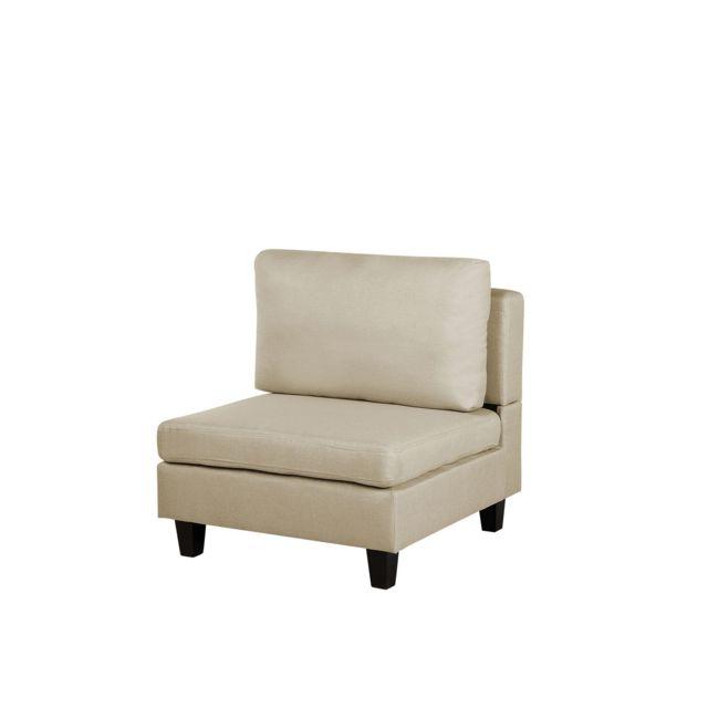 BELIANI Module fauteuil en tissu beige pour canapé FEVIK - beige