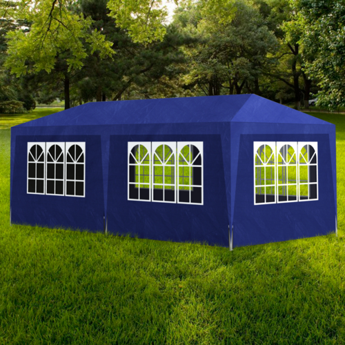 Vidaxl - Tonnelle de jardin/Tente réception Chapiteau Bleu 3x6m