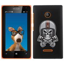 Kabiloo - Coque pour Nokia Lumia 435 impression Motif tête de mort avec un casque de moto