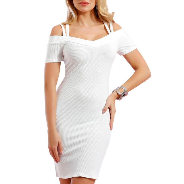 4cf62fbd237 Infinie Passion - Robe moulante blanche 00W026899 - pas cher Achat ...