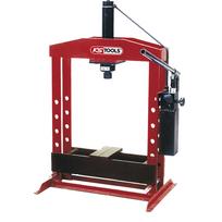 Ks Tools - Presse hydraulique, 30 tonnes à pompe hydraulique 2 vitesses 160.0114