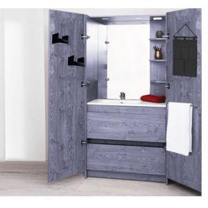 Aqua meuble d 39 angle espace toilette poser m l ze - Meuble d angle toilette ...