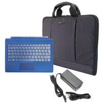 Hobby Tech - Pack de voyage pour Surface Pro - Pochette, Clavier Bleu et Chargeur