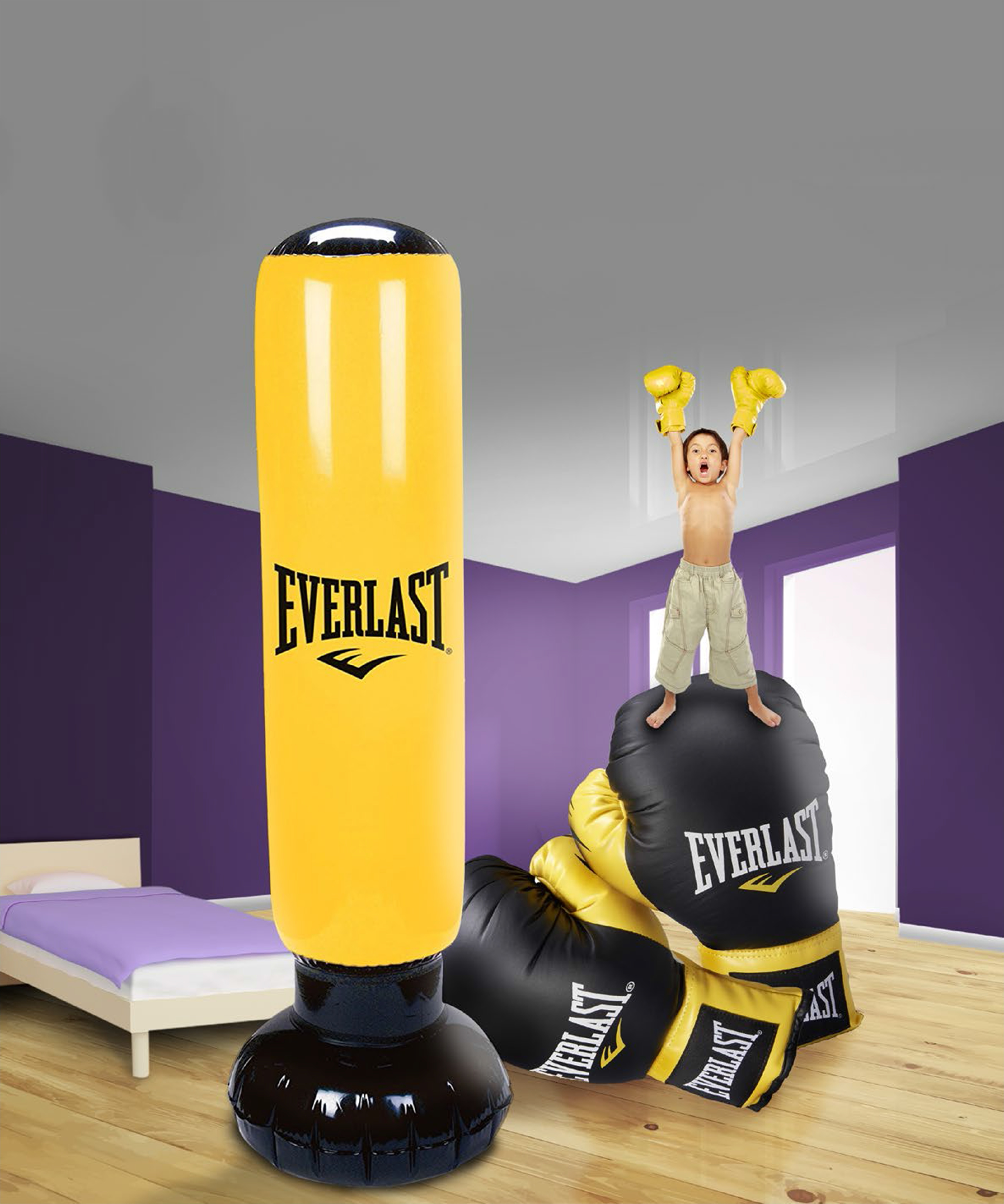 everlast punching ball gonflable pas cher achat. Black Bedroom Furniture Sets. Home Design Ideas