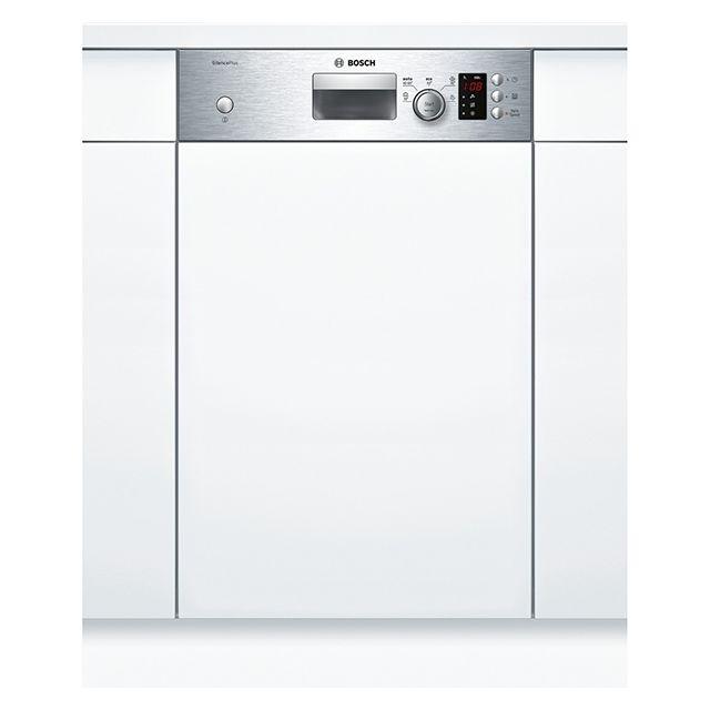 bosch lave vaisselle 45cm 9 couverts a int grable avec bandeau apparent inox spi50e95eu. Black Bedroom Furniture Sets. Home Design Ideas
