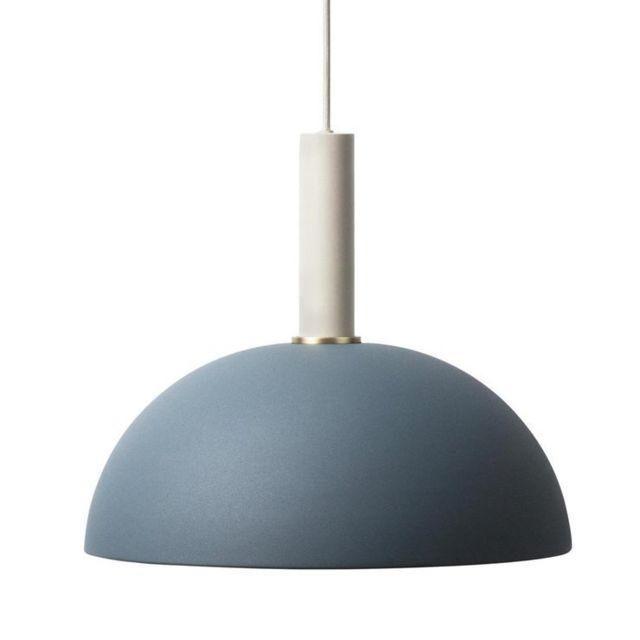 Ferm Living - Collect-suspension Haute Coupole Ø38cm Bleu marine / Gris perle