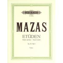 Edition Peters - Partitions Classique Mazas Jacques-féréol - Studies Op.36 Vol.1: 'etudes Spéciales' - Violin Ensemble à Cordes