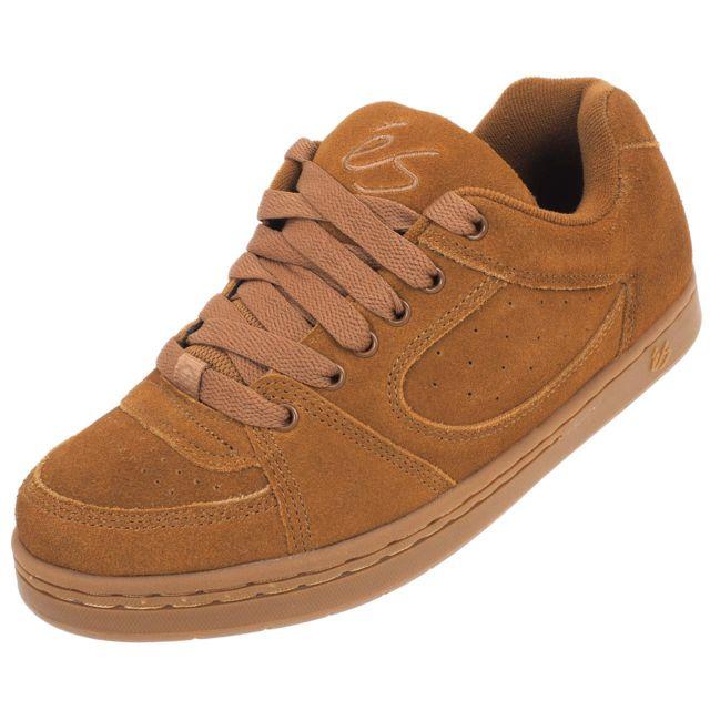 93cad79eff02 Es Shoes - Chaussures skateboard Es shoes Accel og brown gun Marron 11553