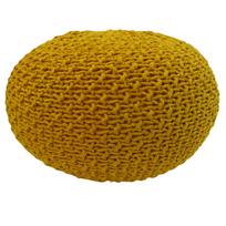 Overseas - Pouf tricoté 30 x 50 cm Ocre