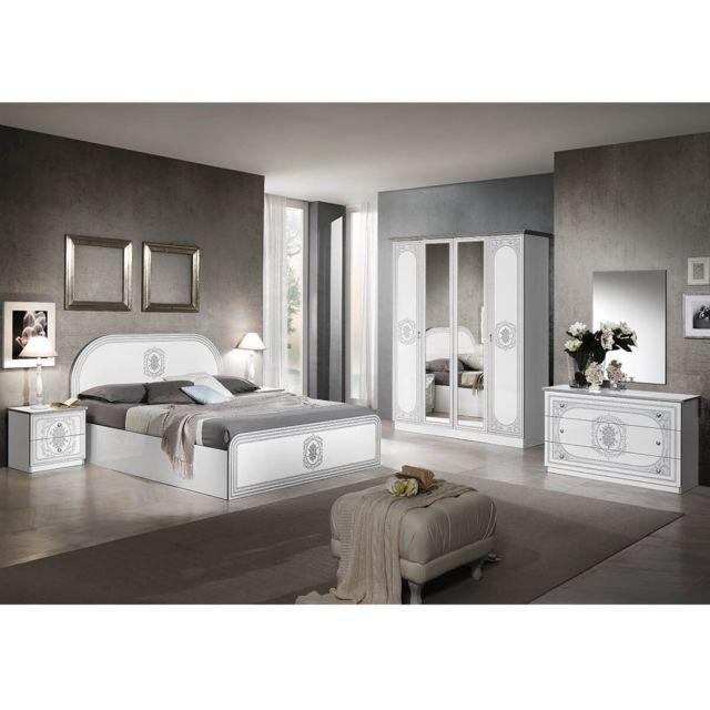 Altobuy Solaya - Chambre Complète avec Lit 160x200cm